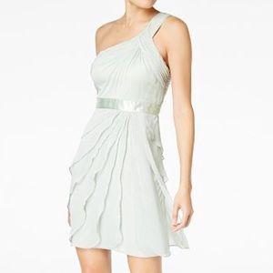 👗 Adrianna Pappell One Shoulder Chiffon Dress